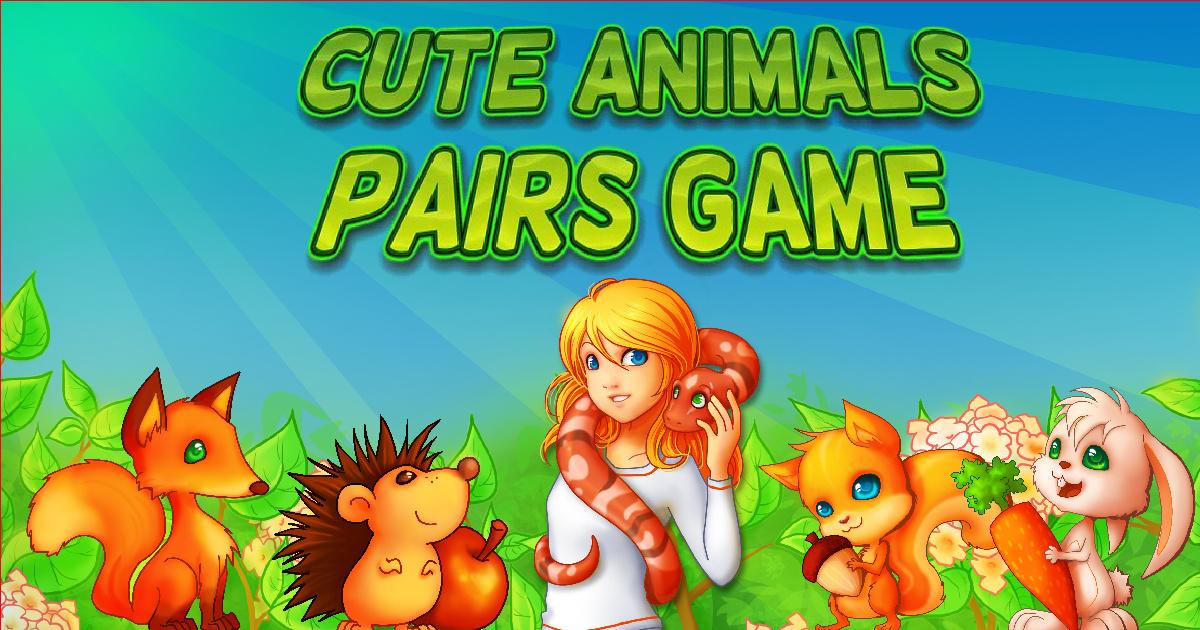 Image Cute Animals Pairs Game