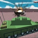 Helicopter And Tank Battle Desert Storm