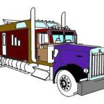 American Trucks Coloring