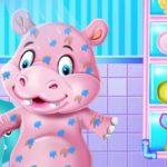 Baby Hippo Bath Time