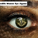 Crocodile Women Eye Jigsaw
