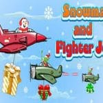 Snowman and Fighter Jet