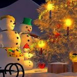 Snowman Family Time